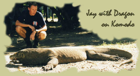Jay with Komodo Dragon