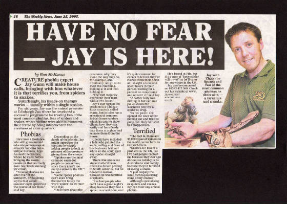Press Article for Phobia Sessions