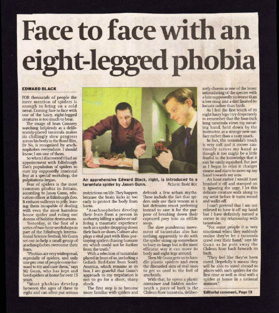 Article about Phobia Sessions