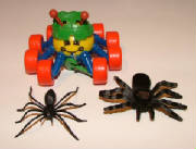 Selection of fake spiders