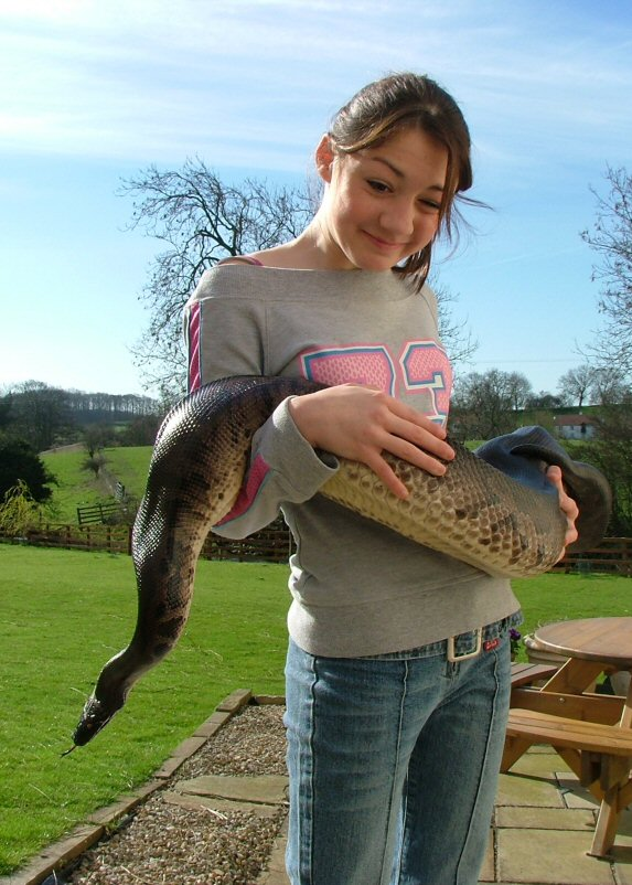 Kirsty with Python